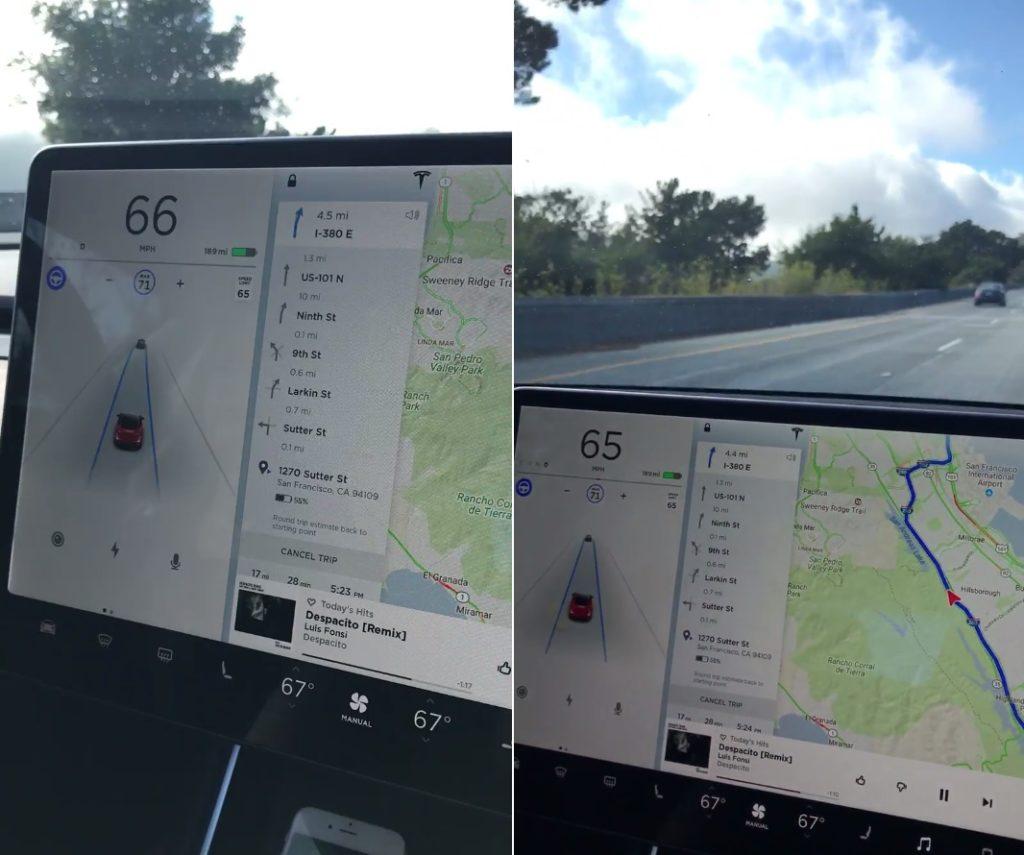 Tesla Model 3, premier aperçu de l'autopilote