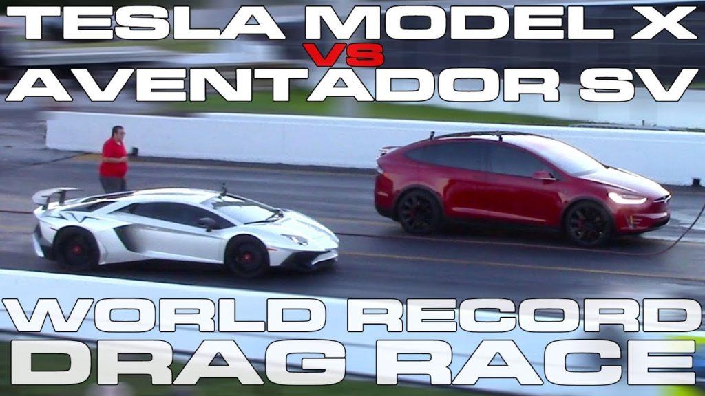Duels Lamborghini Aventador SV - Model X et Model S