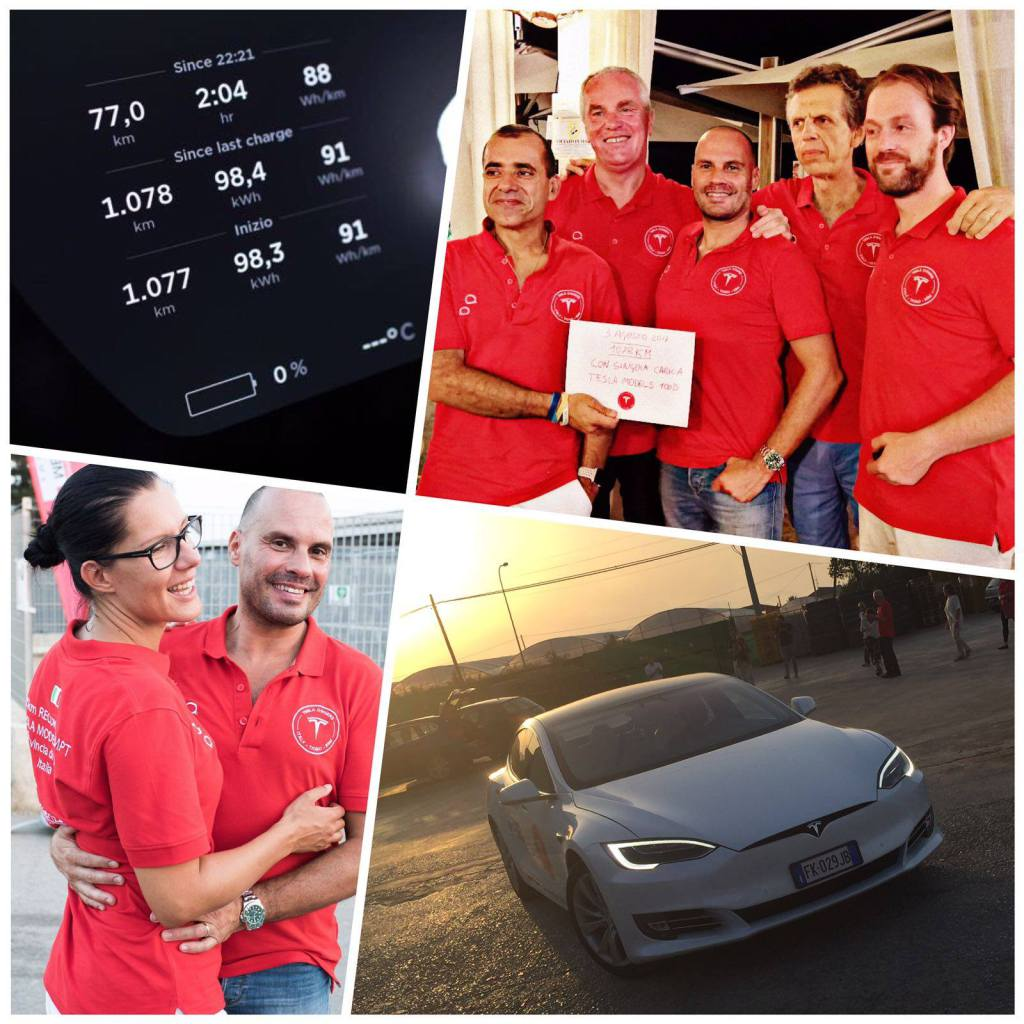tesla owners club italia record model s p100d
