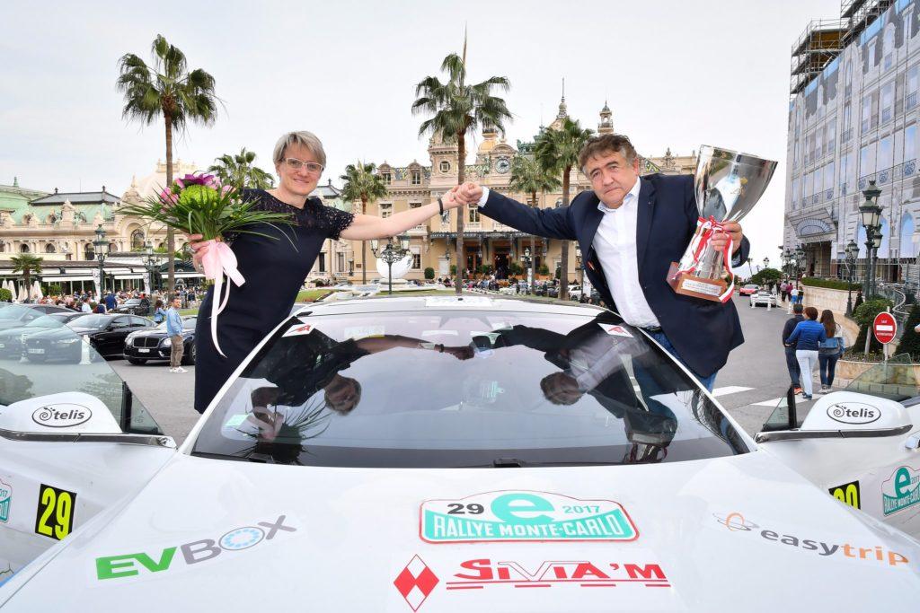 Une Tesla Model S remporte l'eRallye Monte-Carlo