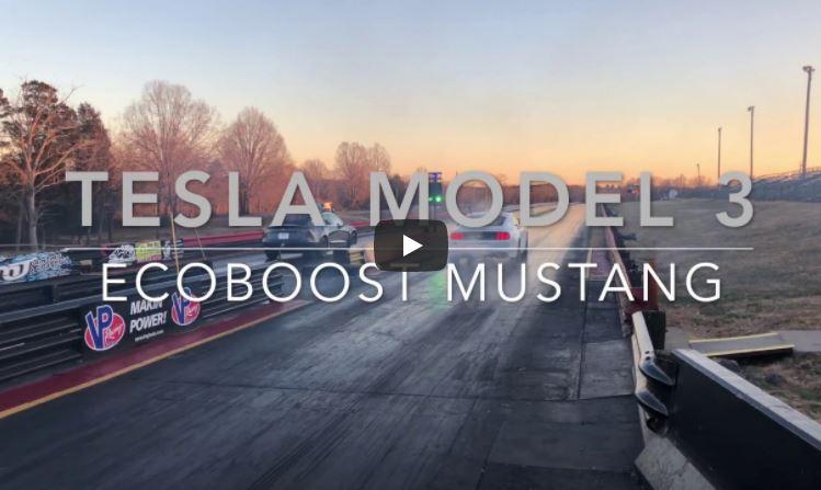 Duel Ford Mustang 2,3l EcoBoost – Tesla Model 3