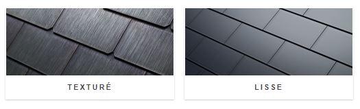 Tuiles solaires Tesla Roof en verre lisse et en verre texturé