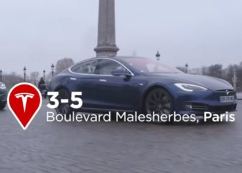 Le showroom Tesla Paris, boulevard Malesherbes
