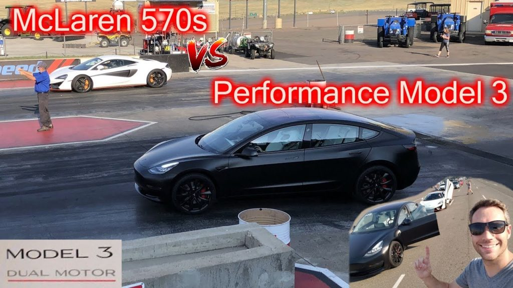 Duel Tesla Model 3 Performance - McLaren 570S