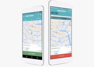 Application NewMotion sur smartphone