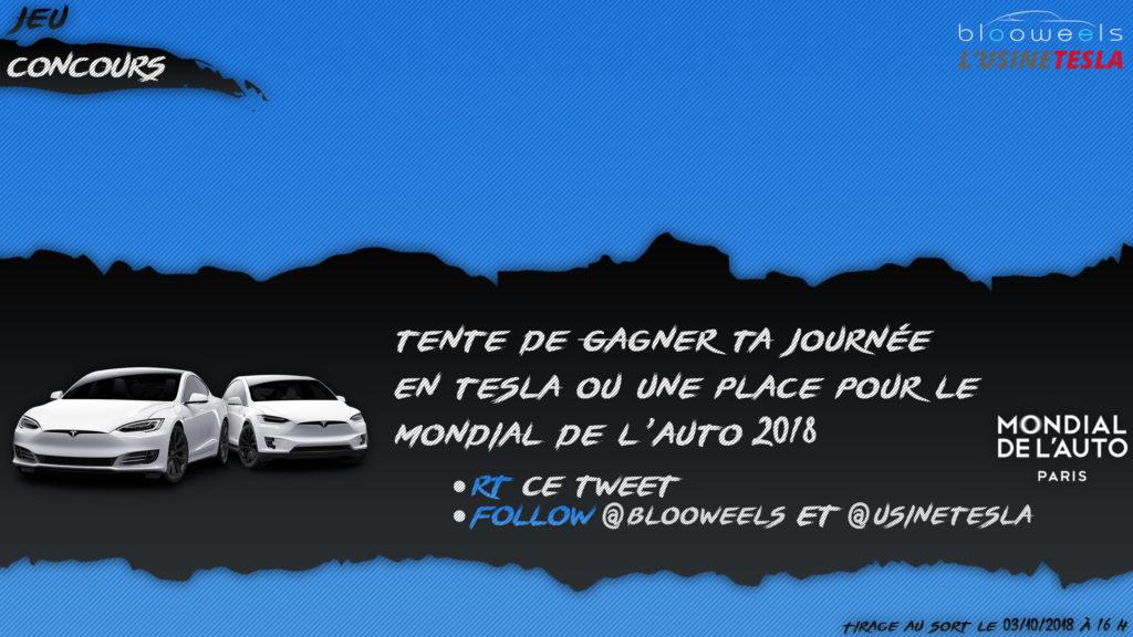Gagnez une journée en Tesla Model S ou X ou votre entrée au Mondial de l'Auto