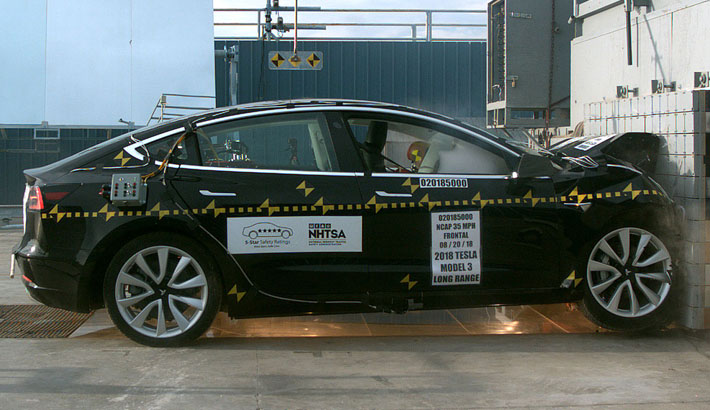 Tesla Model 3 : 5 étoiles au crash-test NHTSA