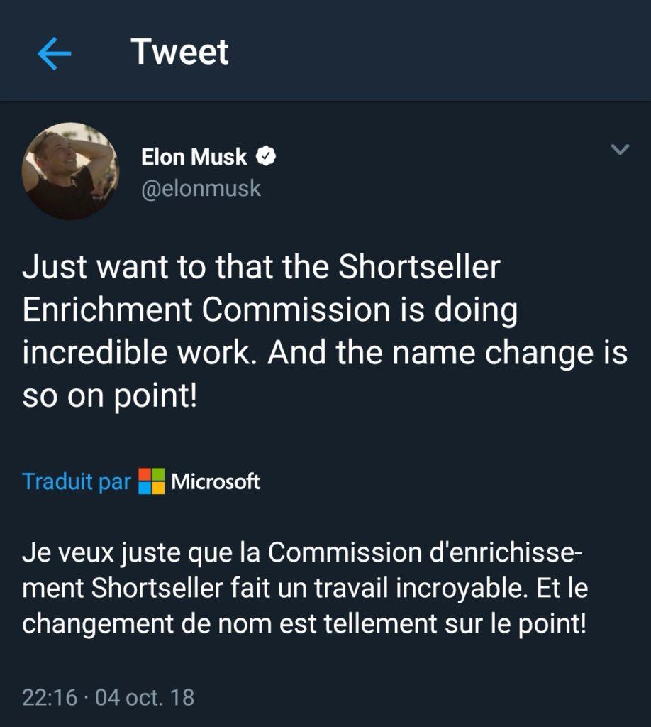 Elon Musk se paye la SEC dans un nouveau tweet